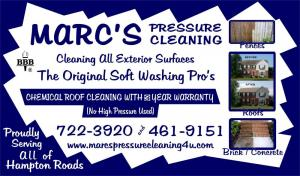 Marc's Pressure & Roof Cleaning Services, Inc.