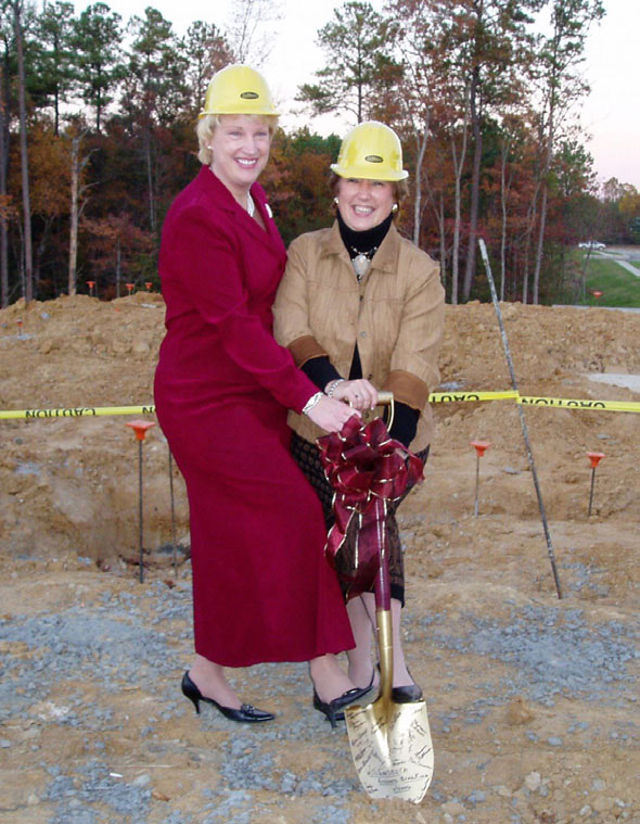 Liz and Williamsburg Managing Broker Elaine Roberto at the new building groundbreaking ceremony.