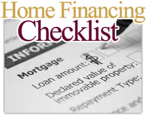 Home Financing Checklist