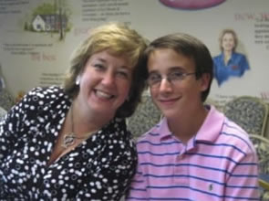 Liz and Grayson in 2008 at the Newport News Office